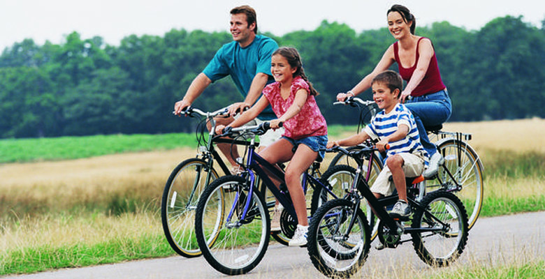 family bike ride