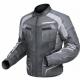 airflow motorcycle jacket textile black grey