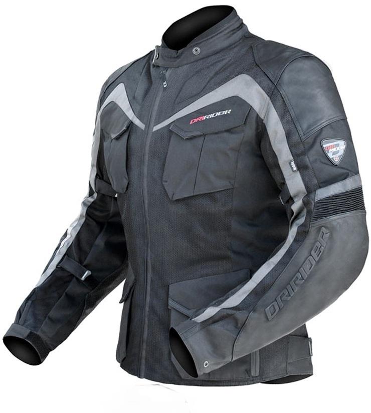 DRIRIDER NORDIC HYBRID MOTORCYCLE JACKET Leather/textile - image DRIRIDER-NORDIC-HYBRID-MOTORCYCLE-JACKET-1 on https://www.bargainbikebits.com.au