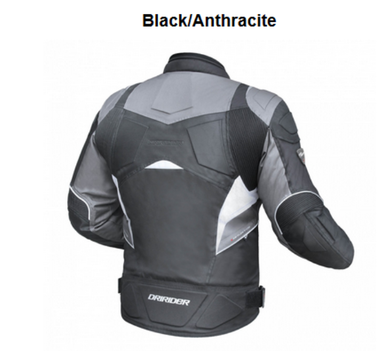 BLACK ANTHRACITE MOTORCYCLE JACKET