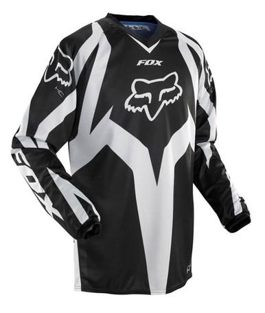 FOX HC RACE MOTOCROSS JERSEY, BLACK/WHITE
