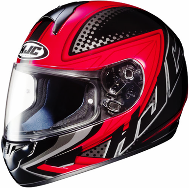 HJC CL16 'VOLTAGE' MOTORCYCLE HELMET (RED/BLACK) WITH FREE PINLOCK ANTI-FOG INSERT - image HJC-CL16-VOLTAGE-MOTORCYCLE-HELMET-1 on https://www.bargainbikebits.com.au