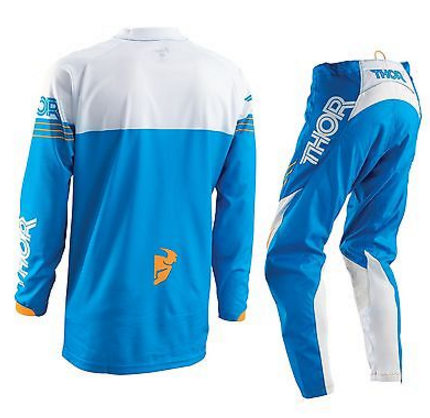 THOR S16 PHASE MOTOCROSS PANTS & JERSEY COMBO BLUE/WHITE/ KTM ORANGE - image THOR-S16-PHASE-MOTOCROSS-PANTS-JERSEY-COMBO-2016-BLUE-2 on https://www.bargainbikebits.com.au