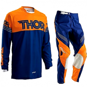 THOR S16 PHASE MOTOCROSS PANTS & JERSEY COMBO 2016 KTM ORANGE NAVY