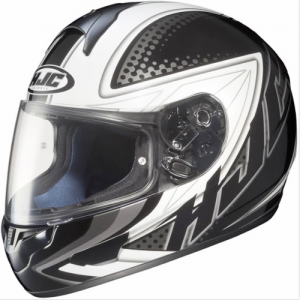voltage silver helmet HJC