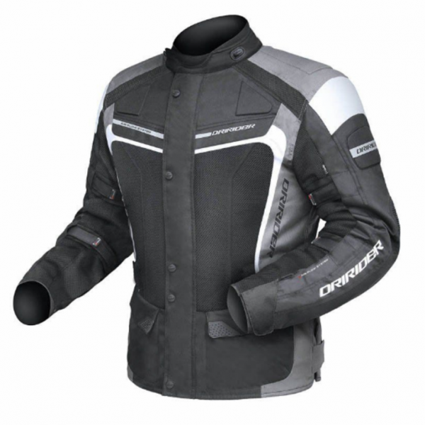 DRIRIDER APEX 3 'AIRFLOW' MOTORCYCLE JACKET (BLACK/GREY/WHITE) (Copy) - image Apex-3-airflow-600x600 on https://www.bargainbikebits.com.au