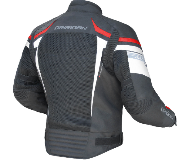DRIRIDER AIR RIDE 3 VENTED MOTORCYCLE JACKET (Red/black) - image air-ride-3-red-600x543 on https://www.bargainbikebits.com.au