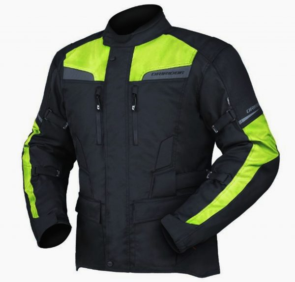 Motorcycle Jacket HI VIZ Fluoro Yellow
