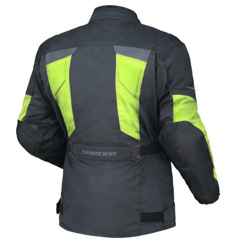 DRIRIDER COMPASS 2 Motorcycle Jacket HI VIZ Fluoro  Yellow - image COMPASS-2-BACK-768x780 on https://www.bargainbikebits.com.au