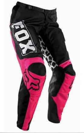 Fox Girls Youth Kids motocross pants & jersey combo (pink/black) - image 7 on https://www.bargainbikebits.com.au