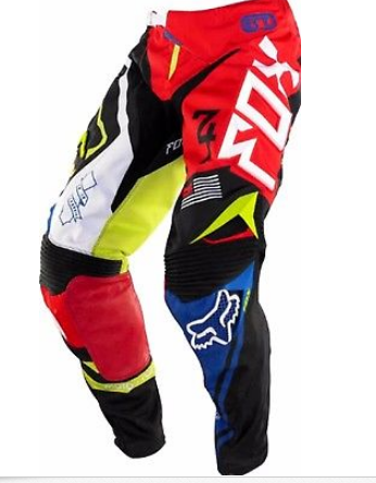 Youth Kids Motocross MX Pants red/blue