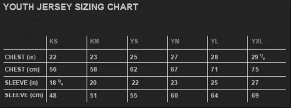 Youth pants sizing chart Copy