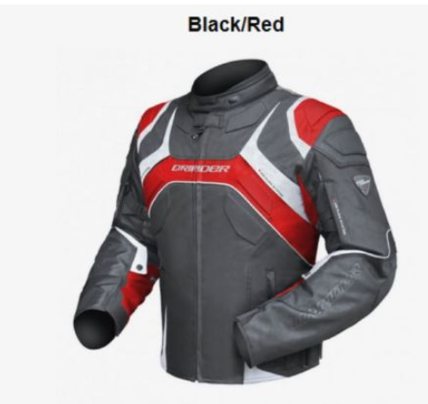 DRIRIDER SPEED 2 MOTORCYCLE JACKET (BLACK/RED) - image speed-red on https://www.bargainbikebits.com.au