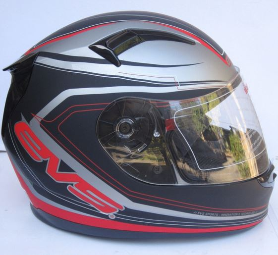 helmet with SUNVISOR Red