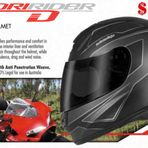 MOTORCYCLE HELMET with model