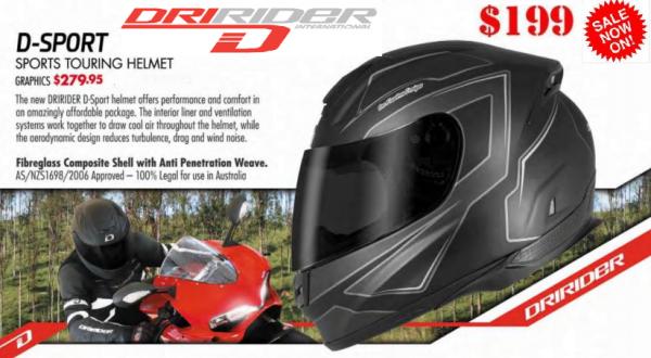 MOTORCYCLE HELMET with model