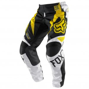 Motocross off road pants Yellow front view