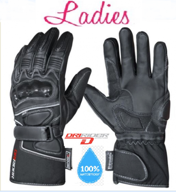 Storm ladies Leather Motorcycle Gloves