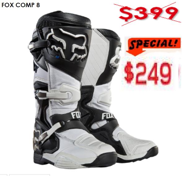 FOX COMP 8 Motocross Boots (black/white) - image WHITE-Copy-1 on https://www.bargainbikebits.com.au