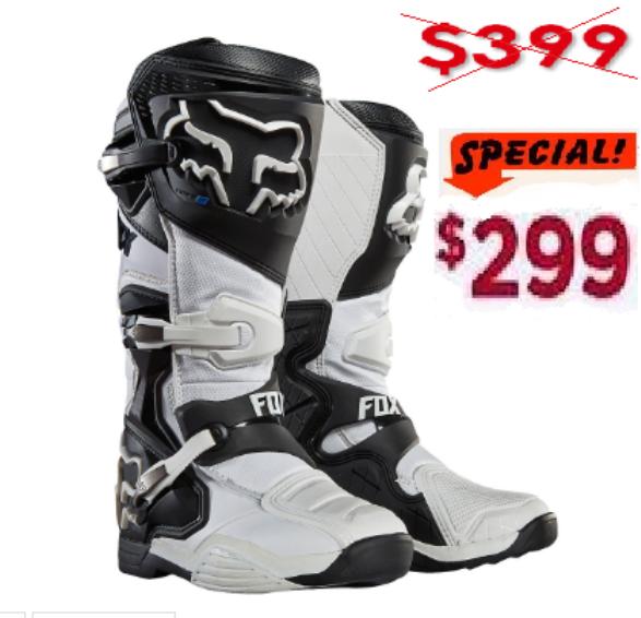 Sale FOX COMP 8 Motocross Boots (black/white)