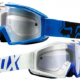 FOX Motocross Dirt Bike Off Road blue goggles