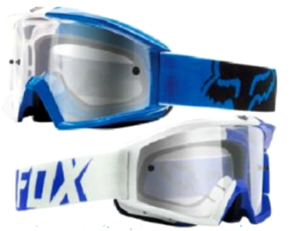 FOX Motocross Dirt Bike Off Road blue goggles