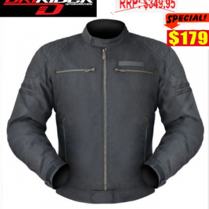 DRIRIDER AIR RIDE 3 VENTED MOTORCYCLE JACKET (Silver/black) - image Trophy-179-300x300 on https://www.bargainbikebits.com.au