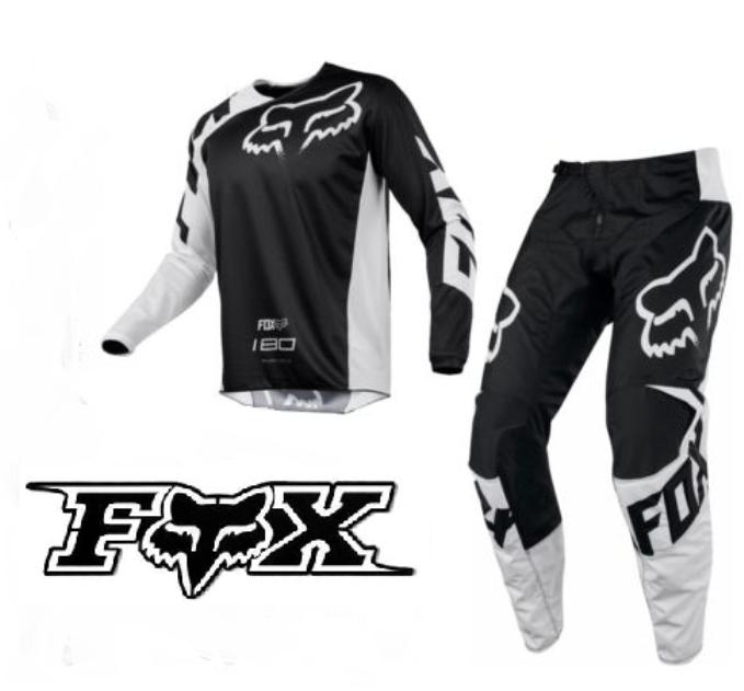 super cute best value designer fashion Fox 180 Motocross Pants & Jersey Combo Set (black/white) - Bargain ...