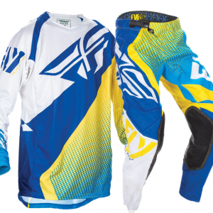 Fly Evo 2.0 Motocross Pants & Jersey Combo Set (blue/yellow/white) - image blue-5-300x300 on https://www.bargainbikebits.com.au