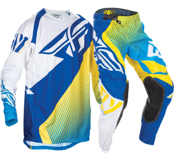 Fly Evo 2.0 Motocross Pants & Jersey blue