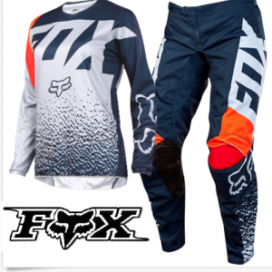Fox girls motocross pants & jersey grey orange