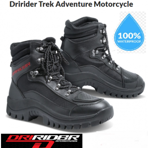 DRIRIDER IRIDE 2 Motorcycle Canvas/Leather Waterproof Motorcycle Shoes - image 2-Copy-300x300 on https://www.bargainbikebits.com.au