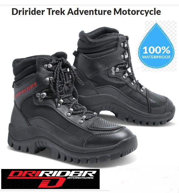 DRIRIDER TREK Waterproof Motorcycle Adventure Touring Shoes - image 2-Copy on https://www.bargainbikebits.com.au