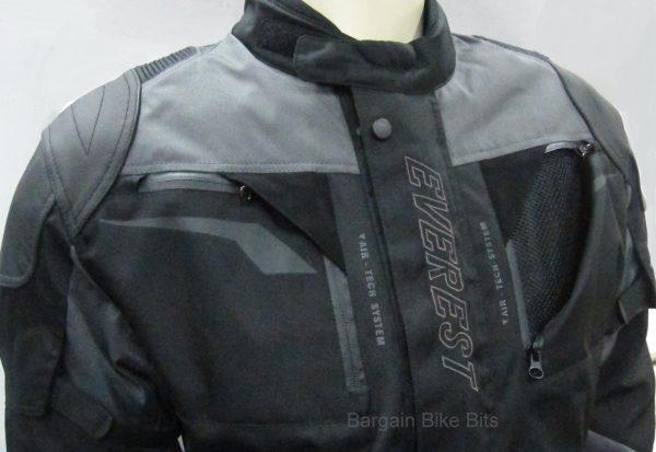 Ryder Cordura/Leather Motorcycle Jacket (black/grey) - image 3-bbb-600x413 on https://www.bargainbikebits.com.au
