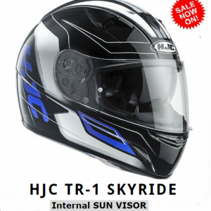 HJC TR-1 Skyride Motorcycle Helmet WITH SUNVISOR Blue - image HJC-TR1-SKYRIDE-BLUE-300x300 on https://www.bargainbikebits.com.au