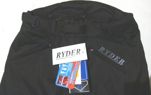 Ryder motorcycle pants NEW! Waterproof LEATHER KNEE PANELS - image Ryder-pants-top-half-600x379 on https://www.bargainbikebits.com.au
