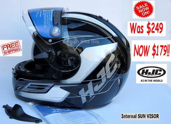 HJC TR-1 Skyride Motorcycle Helmet WITH SUNVISOR Black - image black-side-visor-open-1-600x437 on https://www.bargainbikebits.com.au