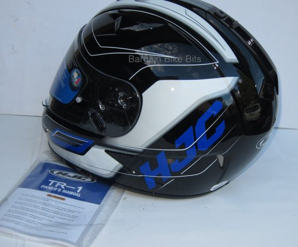 HJC TR-1 Skyride Motorcycle Helmet WITH SUNVISOR Black - image blue-other-side-3-600x498 on https://www.bargainbikebits.com.au