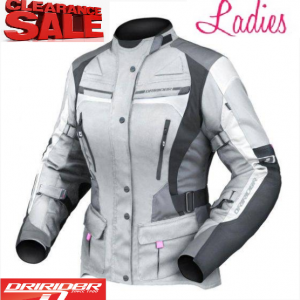 Dririder Apex 4 Motorcycle Jacket (Hi Vis Yellow) - image ladies-grey-apex-4-300x300 on https://www.bargainbikebits.com.au