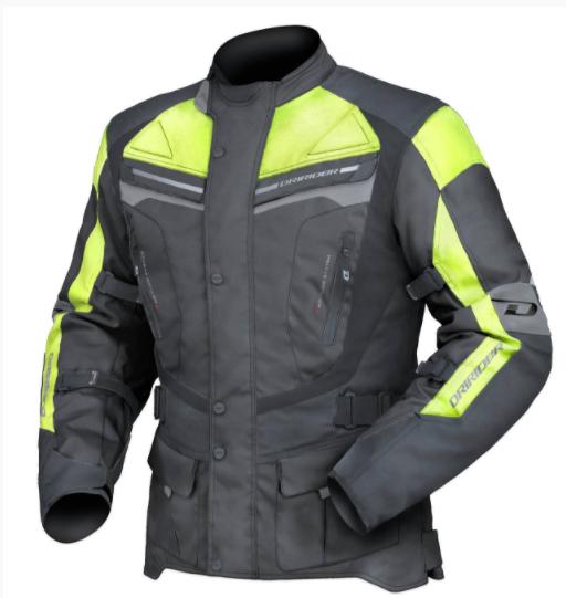Dririder Apex 4 Motorcycle Jacket (Hi Vis Yellow) - image yellow on https://www.bargainbikebits.com.au