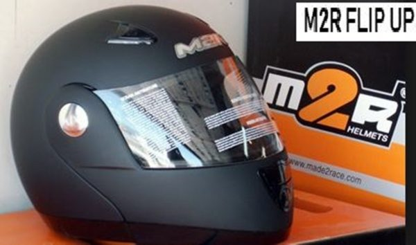 M2R 901 Flip Up Motorcycle Helmet  (matt black) - image 2-1-600x354 on https://www.bargainbikebits.com.au