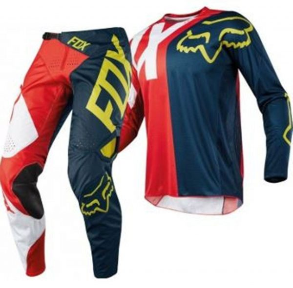 Fox 360 Preme Youth Kids motocross pants & jersey combo (red/navy) - image 5-600x591 on https://www.bargainbikebits.com.au