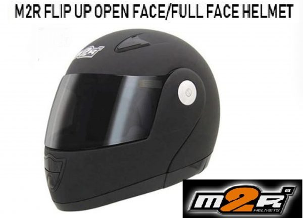 M2R 901 Flip Up Motorcycle Helmet  (matt black) - image 901-matt-blk-600x432 on https://www.bargainbikebits.com.au