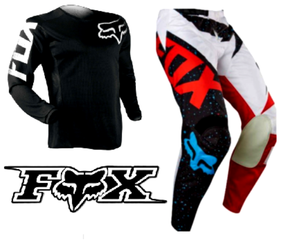 Fox Youth Kids motocross pants & jersey combo - image Fox-Nirv-pants-with-black-jersey on https://www.bargainbikebits.com.au