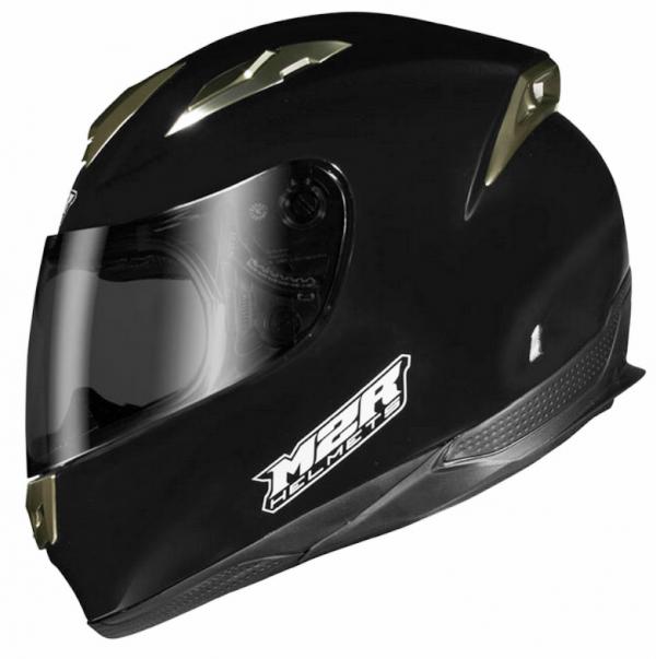 M2R M4 Motorcycle Helmet NEW Gloss Black FIBREGLASS COMPOSITE - image M4-BLACK-600x603 on https://www.bargainbikebits.com.au
