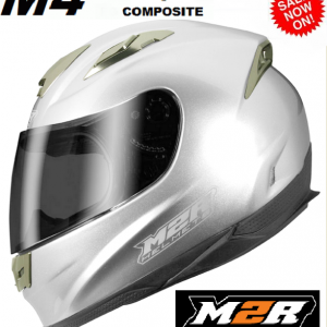 M2R 901 Flip Up Motorcycle Helmet  (matt black) - image M4-SILVER-4-300x300 on https://www.bargainbikebits.com.au