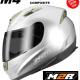 M2R M4 Motorcycle Helmet NEW Gloss Black FIBREGLASS COMPOSITE - image M4-SILVER-4-80x80 on https://www.bargainbikebits.com.au