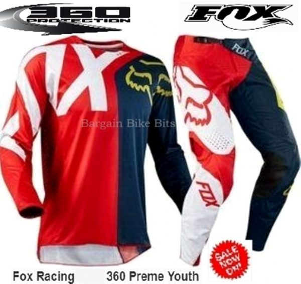 Fox 360 Preme Youth Kids motocross pants & jersey combo (red/navy) - image red-bbb-600x565 on https://www.bargainbikebits.com.au