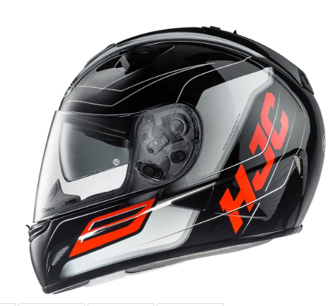 HJC TR-1 Skyride Motorcycle Helmet WITH SUNVISOR Red - image 2 on https://www.bargainbikebits.com.au