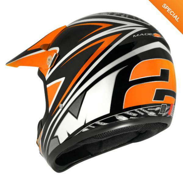 M2R SX100 Motocross Helmet KTM Orange - image 1-600x578 on https://www.bargainbikebits.com.au